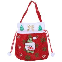 Santa Claus Snowman Christmas Hand Bag Navidad Decoration Candy Gift Party Festival New Year Favor Xmas tree ornaments